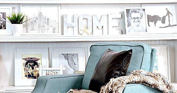 Neutrals and blues make perfect living room hues. HomeGoodsHappy