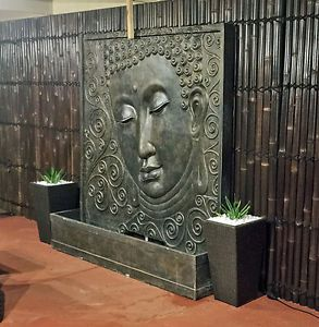 Serenity Buddha Face Garden Water Feature Fountain Bali Statue 2m X 2m Water Features In The Garden Backyard Water Feature Diy Buddha Garden