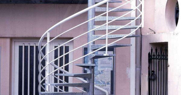photo dh15 spir d 201 co 174 larm 233 e escalier h 233 lico 239 dal m 233 tallique ext 233 rieur au design contemporain