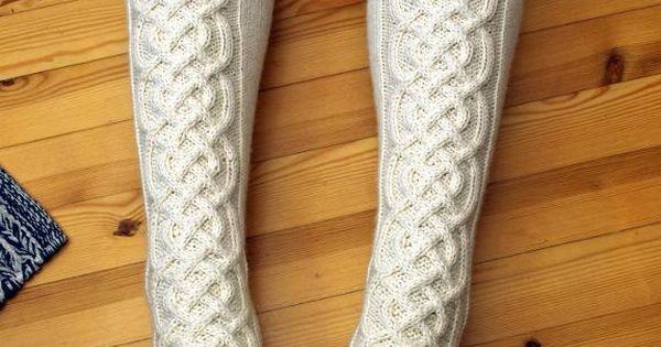 Calzettoni di maglia invernali. Winter socks.