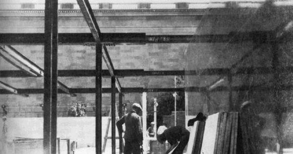 Mies van der Rohe. Barcelona Pavilion construction | 20th ...