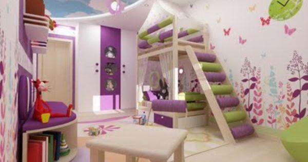 19 ideas de decoraci n de paredes en habitaciones para - Decoracion de habitaciones para ninos ...