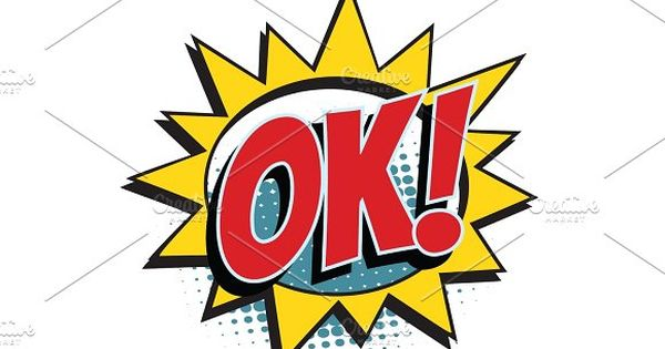 ok comic word by studiostoks on @creativemarket