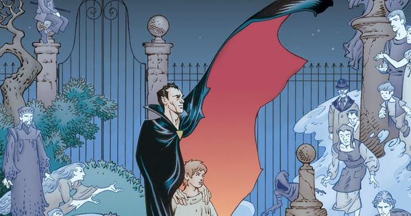 The Graveyard Book Cover Art : Cool art cover to the graphic novel adaptation of