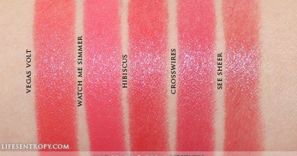 MAC Peach & Coral Lipstick Collection Swatches | Coral ...