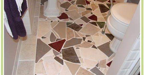 Broken Tile Floors More Broken Tile Mosaic Floor For The Home Mosaic Flooring Patterned Floor Tiles Flooring