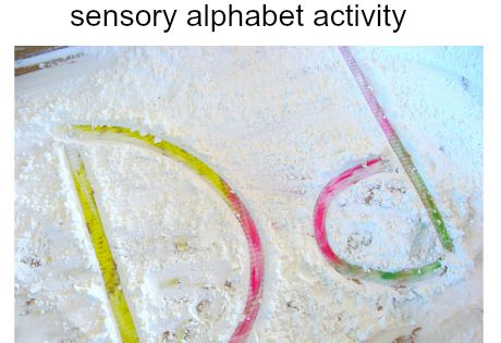 Sensory Play: Letters in the sand/snow