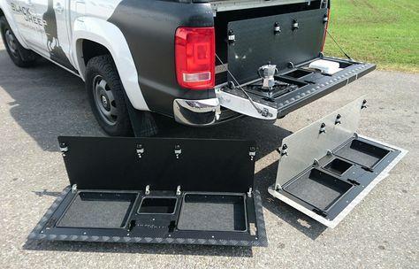 Vw Amarok Tailgate Modification By Www Blacksheep Innovations Com Blacksheepinnovations Amarok Vwamarok Vw Amarok Tactical Truck Truck Storage