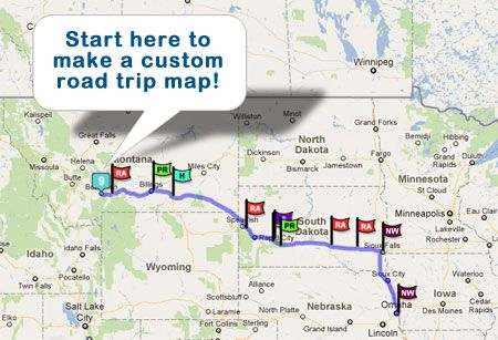 Us Road Trip Map Planner RoadTrip America   Road Trip Planning for North America | Road