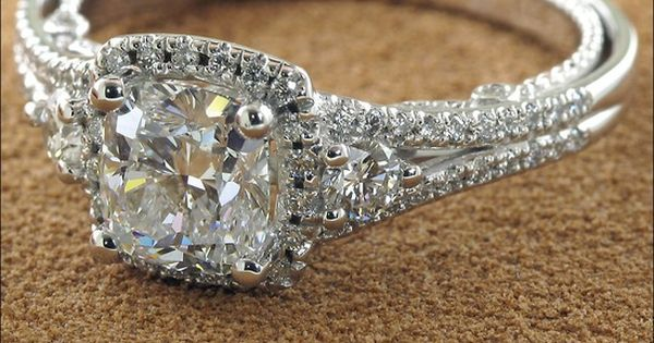 Vintage princess cut engagement ring. Literally the most perfect wedding ring