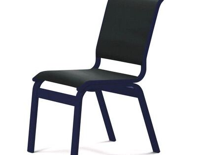 Telescope Casual Aruba Ii Sling Dining Height Armless Chair Textured Navy Finish Seat Color Black Patio Dining Chairs Telescope Casual Chair