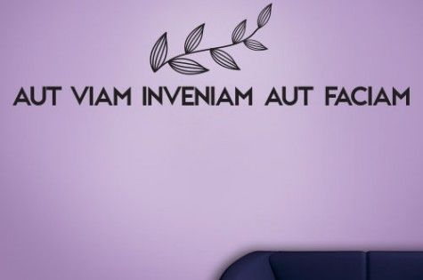 a great inspiration latin wall decal aut viam inveniam aut faciam english translation i will. Black Bedroom Furniture Sets. Home Design Ideas