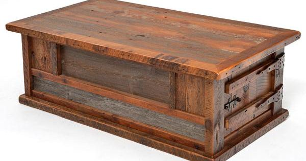Reclaimed Wood Furniture Heritage Collection Coffee Table Two Doors Each Coffee Table Has