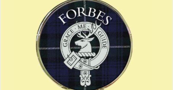 clan forbes tartan clan crest silver plated mens pocket