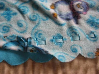 Hooked On Needles No Sew Fleece Blankets No Sew Fleece Blanket Sewing Fleece Fleece Blanket Edging