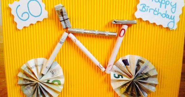 geldgeschenk f r einen fahrrad liebhaber geldgeschenken pinterest. Black Bedroom Furniture Sets. Home Design Ideas