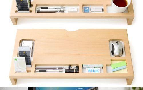 Holzmonitor Imac Stehen Schreibwaren Schreibtisch Organizer Stift