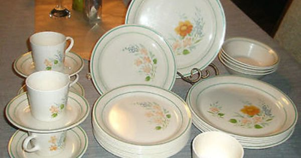34 Pcs Corelle Glenora Dinnerware Plates Bowls Cups By Cypresshop With Images Plates Dinnerware Corelle