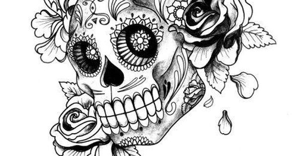 Print Adult Halloween Sugar Skull Coloring Pages Cute