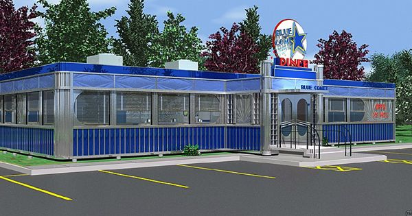 Images of retro diners vintage diner exterior thumbs for 50 s diner exterior