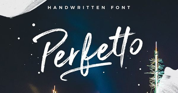 Perfetto Brush Font by Davide Bassu on @creativemarket