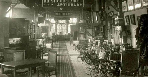 1916 interieur van postorderbedrijf de koning van zweden for De koning interieur