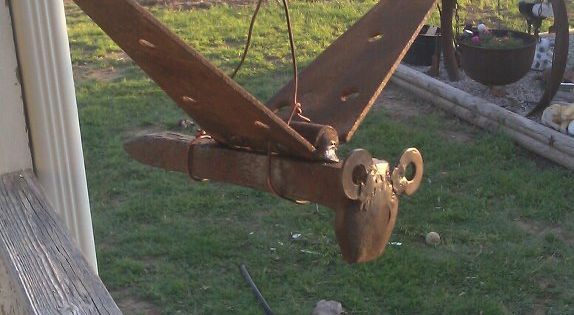 Yard Bird Made From An Old Railroad Spike Old Hinge A A Couple Of Washers For The