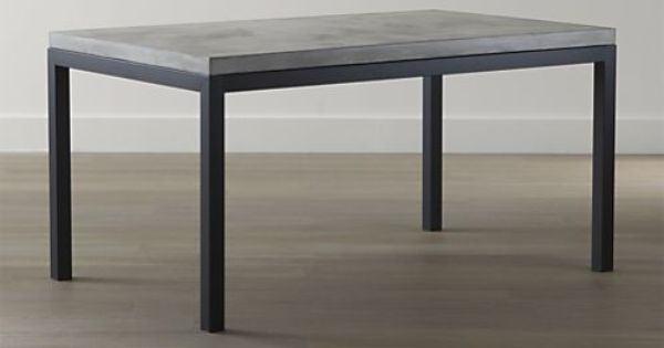 Parsons Concrete Top Dark Steel Base Dining Tables Crate And