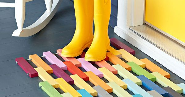 wood door mat plans | Wooden Floor Mat, door mat,floor mat,wooden,free woodworking