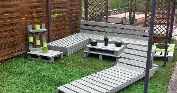 52 id es pour fabriquer votre meuble de jardin en palette transat chaise longue jardin en. Black Bedroom Furniture Sets. Home Design Ideas