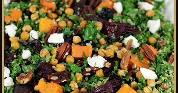 Kale, Quinoa 'n Roasted Beet Salad with Maple-Cider Vinaigrette ...