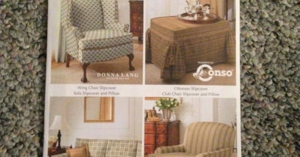 Sewing Pattern Slip Covers For Wing Chair Ottoman Sofa