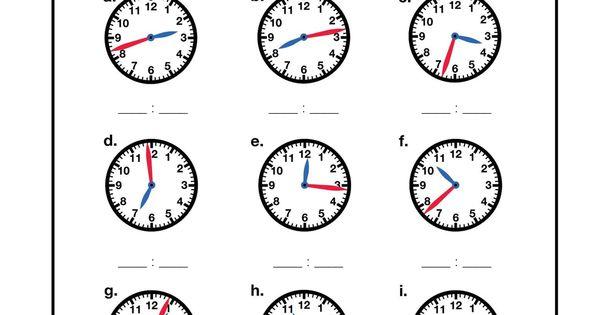 Grade 1 Telling time Worksheet on half hours 1st Grade