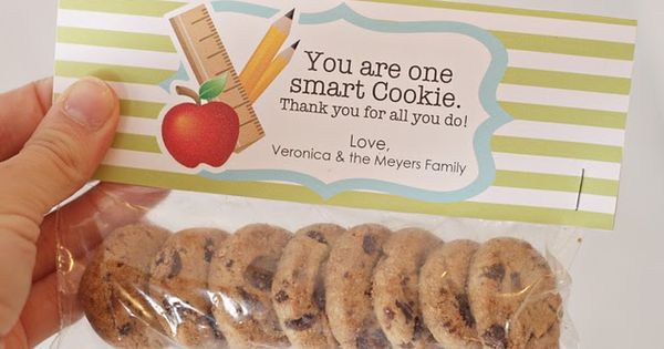 Teacher Gift: One Smart Cookie Treat Bag Tags