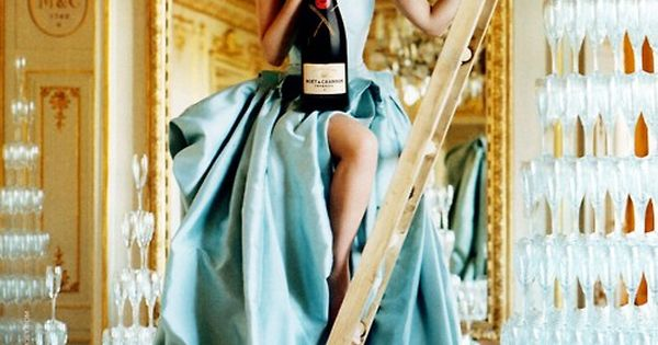 Champagne glasses and gold and Tiffany blue. scarlett johansson