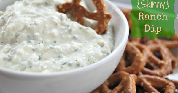 Ranch dip, Dips and Skinny on Pinterest