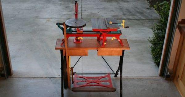 F.S.Babbitt, Treadle Powered Combination Tool - Lathe/Saw/Scroll circa 1875-1880 | Tools and eBay
