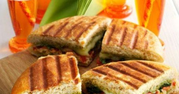 Chicken Panini with Creamy Havarti and Basil Pesto # ...