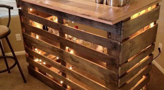 Diy pallet wine bar a well diy and crafts and pallet wine for Pallet wine bar