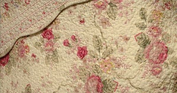 Chic Shabby Romantic Rose Bedding Quilt, Simply Shabby Chic Bedding Rn17730