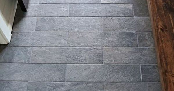 Lowes Ceramic Tile Flooring >> Lowe's Ivetta porcelain black slate tile. | entryway tile ...
