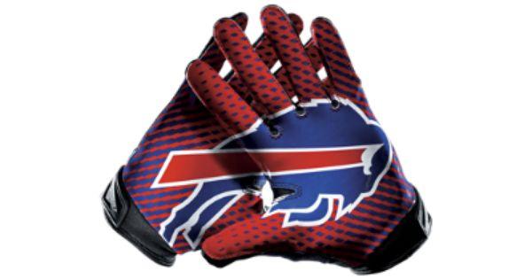 Nike Vapor Jet 2 0 Nfl Bills Men S Football Gloves Bills Football Nfl Bills Buffalo Bills Football