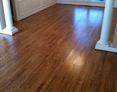 Red Oak With Duraseal Nutmeg Stain Bona Traffic Hd Satin