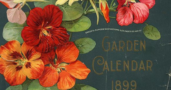 hand drawn typography Garden Calendar 1899