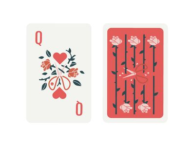 Queen Of Hearts With Images Playing Cards Design Queen Of
