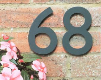 Black House Number House Number Black Helvetica House Numbers