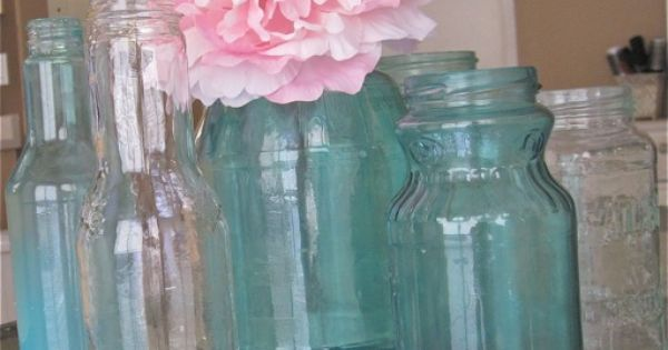 diy color jars with food coloring and modge podge this tutorial is for blue but you can use any Modge Podge On Painted Glass  Coloring Mason Jars With Modge Podge