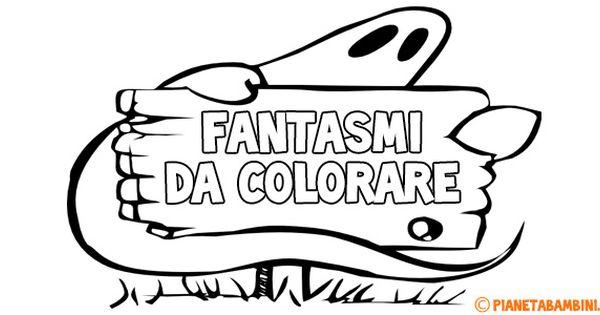 30 disegni di fantasmi da colorare halloween pinterest for Fantasmi disegni da colorare