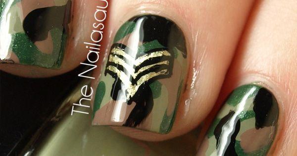 Military nail art