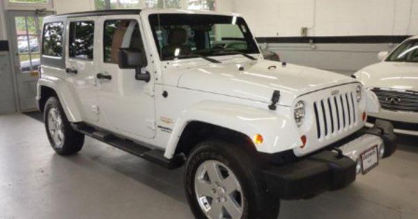 2011 White Jeep Wrangler Unlimited Sahara Jeep Wrangler Unlimited Sahara Jeep Wrangler Unlimited Jeep Wrangler